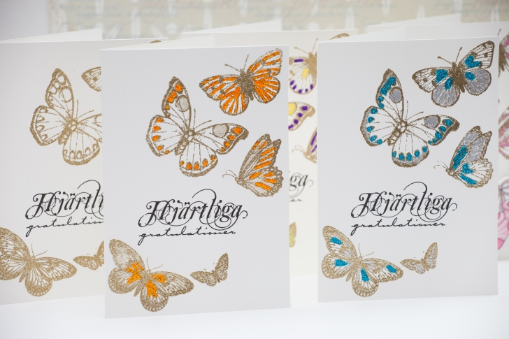 Embossed golden butterflies. Serine Designs blog
